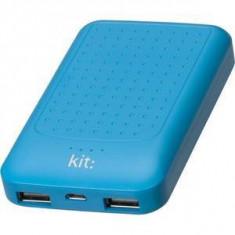 Baterie externa Kit Essential cu mufa USB 6000 mAh, Albastru