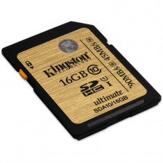 Card memorie Kingston SDHC 16GB Clasa 10 UHS-I Ultimate Flash Card - Card Compact Flash