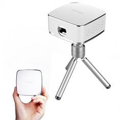 W1 Mini Video Proiector Wireless Portabil Alb