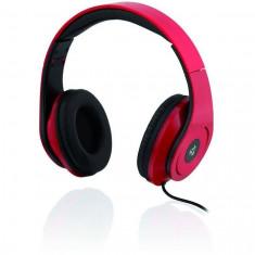Casti cu microfon I-BOX D-13, rosu, Casti On Ear, Cu fir, Mufa 3, 5mm