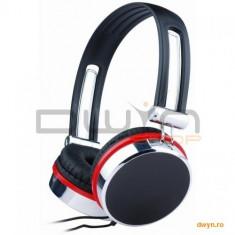 Casti cu microfon - dimensiune medie, stereo Gembird, Casti On Ear, Cu fir, Mufa 3, 5mm