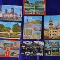 Lot 11 CP BUZAU (Carti postale vechi, Vederi), Circulata, Fotografie, Romania de la 1950