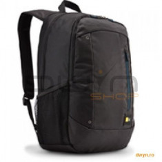 Rucsac laptop 15.6' Case Logic, buzunar intern tableta, buzunar frontal, poliester, black 'WMBP115K' - Geanta laptop Case Logic, Nailon, Negru