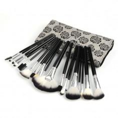 Set 18 pensule machiaj imprimeu floral pensoane make up profesionale trusa fard - Pensula machiaj