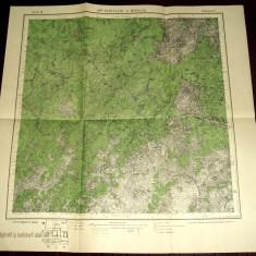 1917 Harta militara PENTELEU si NEREJU, judetul Buzau & Vrancea, format 50x49 cm