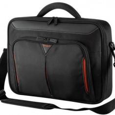 Targus geanta laptop Classic+Clamshell 13-14.1 in/33-35, 8cm, negru si rosu, Geanta de umar, Nailon