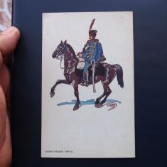 Carte postala veche cu tematica militara, printata in Ungaria. - Carte postala tematica, Necirculata