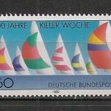 Germania.1982 100 ani Regata Kiel SG.445 - Timbre straine, Nestampilat