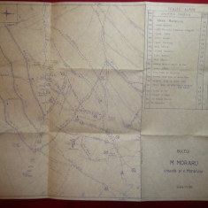 Harta Muntilor Moraru -Creasta si Valea Moraru - Bucegi, scara 1:5500, 41x31, 5cm