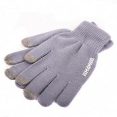 Manusi iarna Touchscreen Sensitive Haweel Marimea L gri Originale - Manusi touchscreen
