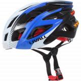 LIVALL Casca Bike Bluetooth Cu Microfon, Alerta SOS Si Leduri De Semnalizare Alb Albastru