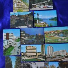 Lot 11 CP PITESTI, Arges, Trivale. (Carti postale vechi, Vederi Romania), Circulata, Fotografie, Romania de la 1950