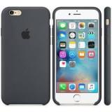 Husa Protectie Spate Apple Silicone Case Negru Charcoal pentru IPhone 6s - Husa Telefon Apple, iPhone 6/6S