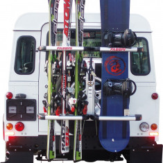 Suport ski snowboard Fabbri Gringo Ski&Board cu prindere pe roata de rezerva - Suport schiuri