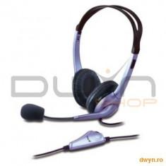 Genius Casti Genius 'HS-04S' + microfon noise cancelling, control volum '31710025100' - Casti PC
