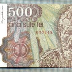 A1334 BANCNOTA-ROMANIA- 500 LEI-1991-SERIA 0016- BRANCUSI-starea care se vede - Bancnota romaneasca