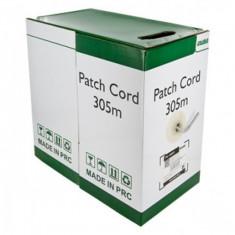 4World Cablu UTP, 4x2, cat. 5e, cablu litat, colac, 305m, gri - Cablu retea