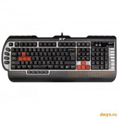 TASTATURA A4TECH G800V USB 3X fast Gaming, Cu fir