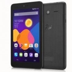 Tableta Alcatel OneTouch Pixi 3, TFT 7.0 inch, CPU Dual-Core 1.3GHz, 512MB RAM, 4GB Flash, 3G, Wi-Fi, Android 4.4, Volcano Black, 7 inch, Wi-Fi + 3G