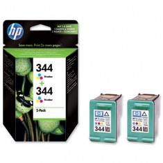 Pachet cartuş cerneală color HP C9505EE, 2buc. cartuşe HP 344 (C9363E) - Cerneala imprimanta