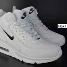Adidasi gheata- Nike AirMax -unisex - Adidasi barbati Nike, Marime: 37, 43, 44, Culoare: Alb, Textil