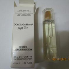 NOU!TESTER 45 ML- D&G LIGHT BLUE -SUPER PRET, SUPER CALITATE! - Parfum femeie Dolce & Gabbana, Apa de toaleta