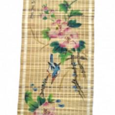 Pictura chinezeasca pe rulou de bambus pinyin - flori mar 1 - semnata, Liangping - Arta din Asia