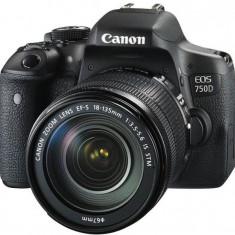 Kit aparat foto digital Canon EOS 750D (cu obiectiv de 18-135 S STM) - DSLR Canon, Kit (cu obiectiv), Peste 16 Mpx, Full HD