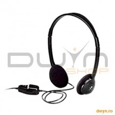 Logitech Logitech Dialog-220 Stereo Headset, Casti On Ear, Cu fir, Mufa 3, 5mm, Active Noise Cancelling