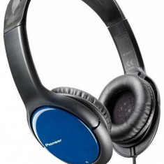 Căști Pioneer SE-MJ711-L, negru/albastru, Casti On Ear, Cu fir, Mufa 3, 5mm, Active Noise Cancelling