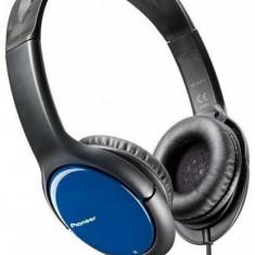 Căști Pioneer SE-MJ711-L, negru/albastru, Casti On Ear, Cu fir, Mufa 3, 5mm, Active Noise Cancelling