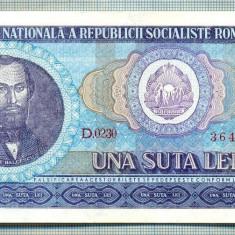 A1322 BANCNOTA-ROMANIA(RSR)- 100 LEI- 1966 -SERIA364859 -starea care se vede - Bancnota romaneasca
