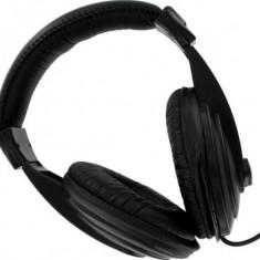 4WORLD Casti 4World stereo cu pernite de urechi confortabile, negre, 6m - Casti PC