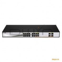 D-Link, Smart Switch 6 porturi 10/100/1000 Gigabit PoE, 2 porturi combo, Smart, Switching capacity 2