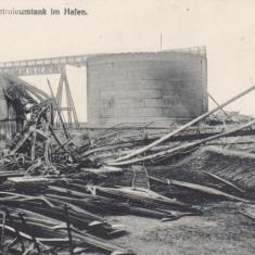 CONSTANTA REZERVOR DE PETROL DIN PORTUL CONSTANTA - Carte Postala Dobrogea dupa 1918, Necirculata, Printata