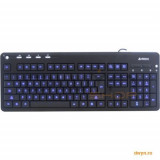 Tastatura A4tech KD-126-2 X-Slim LED Blue BackLight Keyboard USB (US Layout), Cu fir