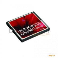 KINGSTON Compact Flash Card 16GB Kingston Ultimate 266X, Data Recovery Software - Card Compact Flash