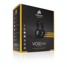 CORSAIR Corsair VOID Wireless gaming headset 7.1, RGB lighting, CUE control - Black - Casti PC