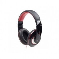 CASCA SPACER cu microfon, stereo, jack 3.5mm, gaming, red & black 'SPK-203' - Casca PC
