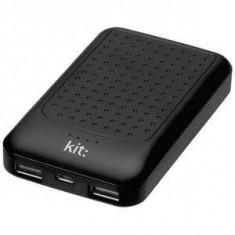 Baterie externa Kit Essential cu mufa USB 6000 mAh, Negru