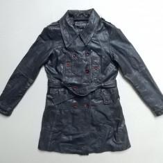 Palton piele naturala Vila Clothes Naffa Leather Coat Style; M, vezi dim.;ca nou - Geaca dama, Marime: M, Culoare: Din imagine