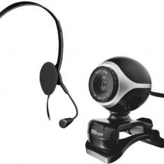 Trust Căşti cu microfon Trust Exis Pack + cameră web (17028) - Casti PC