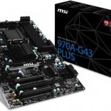 MSI 970A-G43 PLUS, 970, DualDDR3-1866, SATA3, RAID, USB 3.1, ATX - Placa de Baza