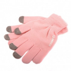 Manusi iarna Touchscreen Sensitive Haweel Marimea M roz Originale - Manusi touchscreen