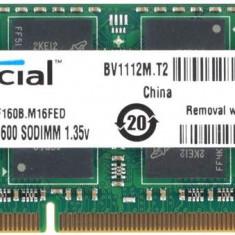 Memorie notebook Crucial 8GB DDR3 1600MHz CL11 - Memorie RAM laptop