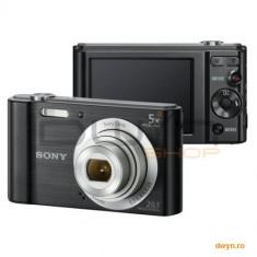 Camera foto Sony Cyber-Shot W800 Black, 20.1 MP, senzor CCD, zoom optic 5x, Steady Shoot, ecran 2.7' - Aparat Foto compact Sony