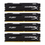 Memorie RAM Kingston, DIMM, DDR4, 16GB, 2400MHz, CL15, Kit 4x4GB, HyperX FURY Black Series, 1.2V