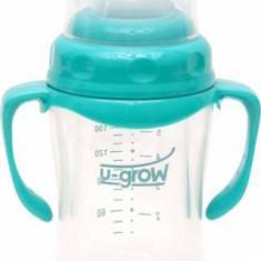 U-GROW Biberon U-Grow din sticla A-1077 180 ml Blue