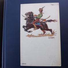 Carte postala cu tematica militara, necirculata.Husar maghiar. - Carte postala tematica, Printata, Ungaria