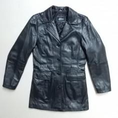 Palton piele naturala Auluna Leather Company; marime M, vezi dimensiuni; ca nou - Palton dama, Marime: M, Culoare: Din imagine